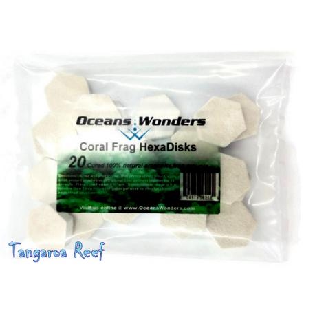 Coral Frag HEXADISKS, 30 mm.